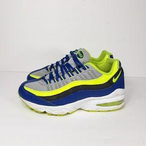 Nike Air max 95 Blue Volt Grey Sz 5Y